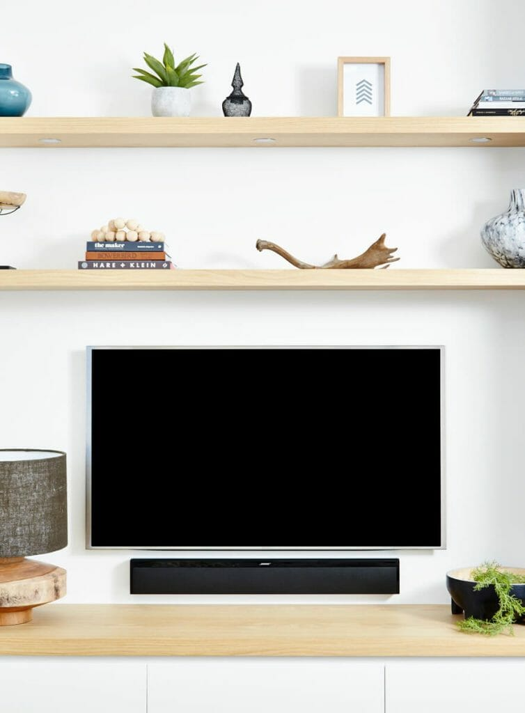 Floating shelves with LEDs